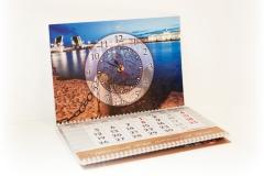 Календарь трио с часами и кашированным шпигелем