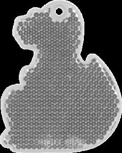 ДИНО белый - световозвращающая подвеска