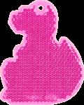 ДИНО розовый - световозвращающая подвеска