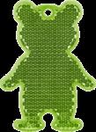 МИШКА зеленый - световозвращающая подвеска