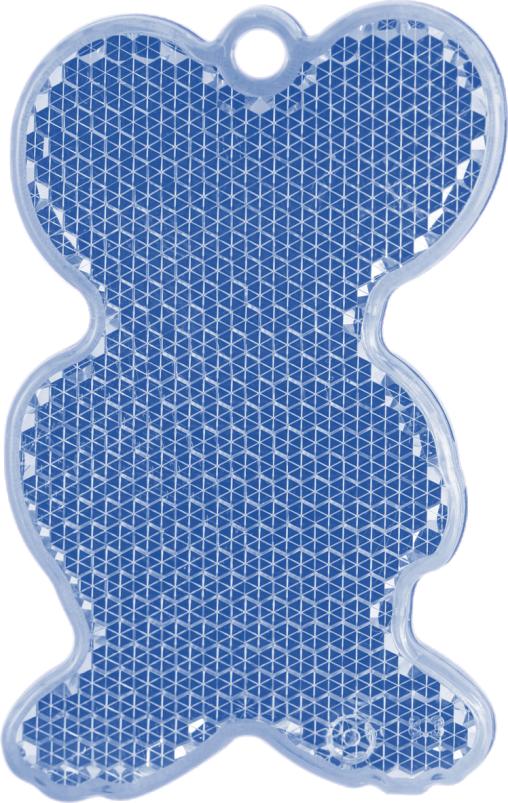 МЫШЬ синяя - световозвращающая подвеска
