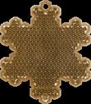 СНЕЖИНКА золотая - световозвращающая подвеска