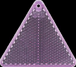 Треугольник фиолетовый - световозвращающая подвеска