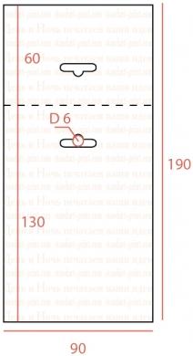 европодвес с длинной подложкой